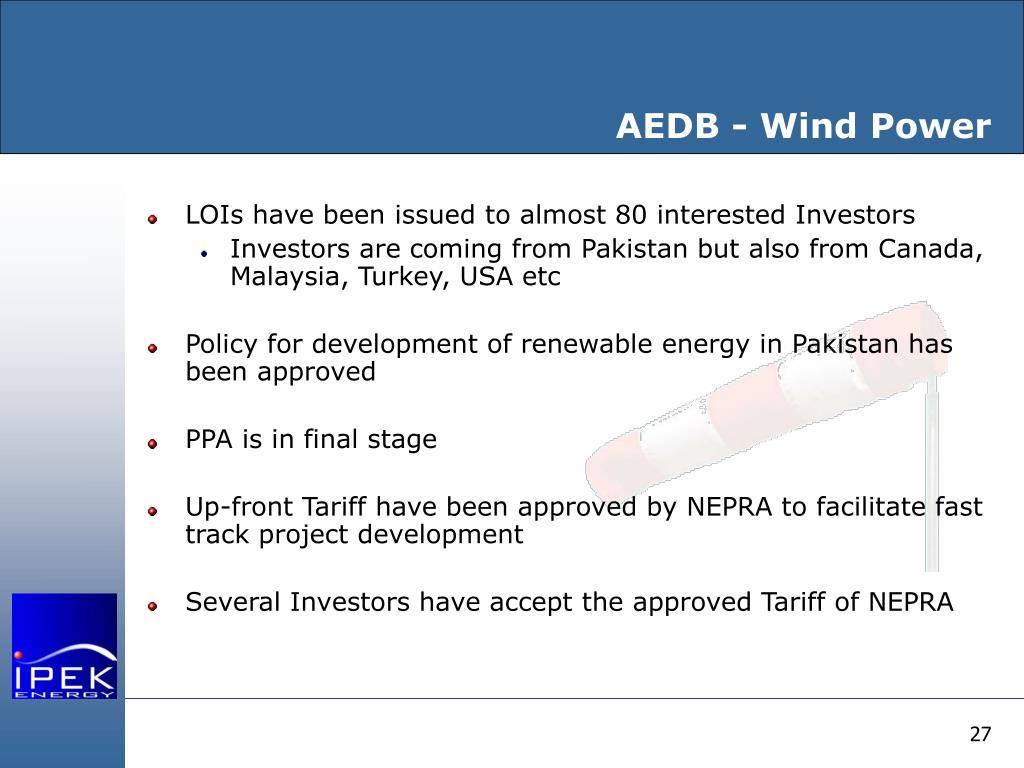 AEDB - Wind Power