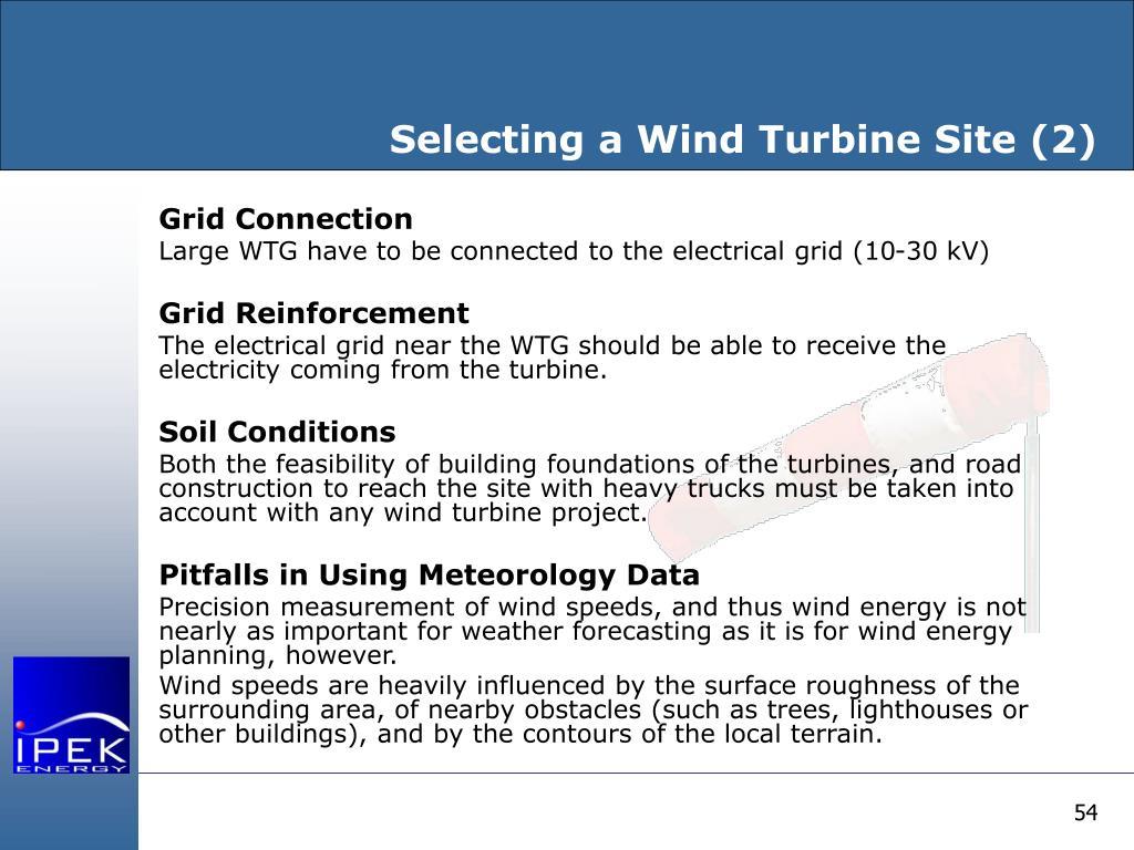 Selecting a Wind Turbine Site (2)