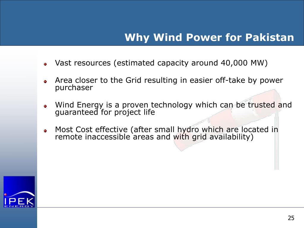 Why Wind Power for Pakistan