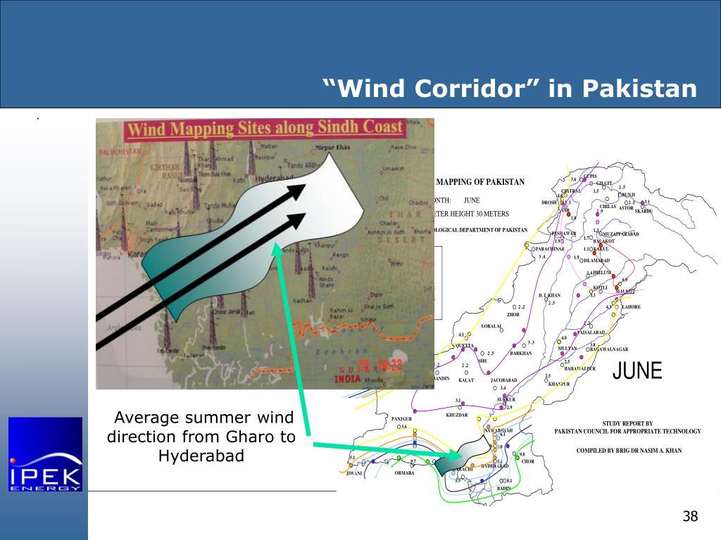 """""""Wind Corridor"""" in Pakistan"""