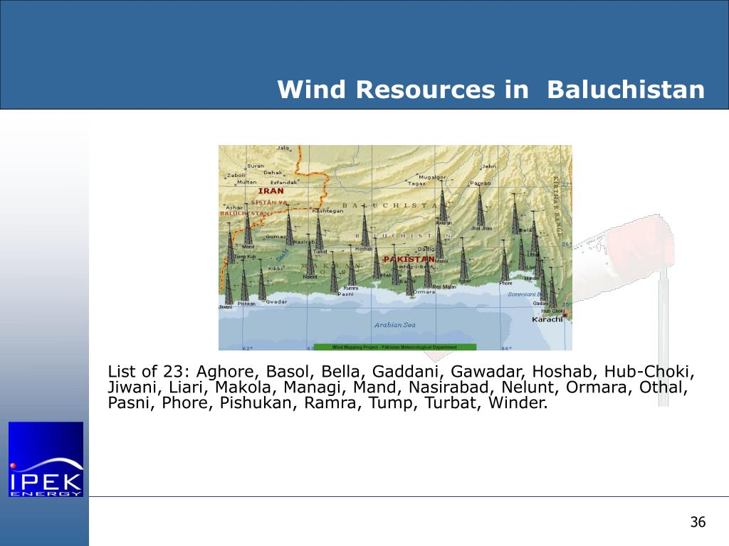Wind Resources in  Baluchistan