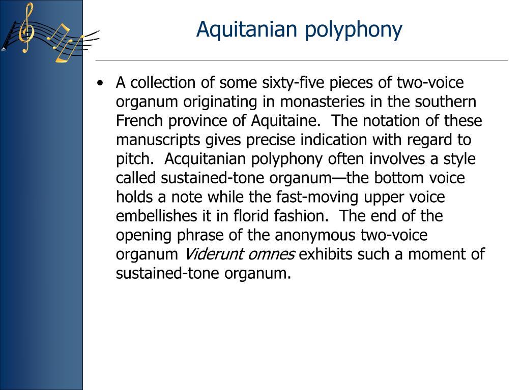 Aquitanian polyphony