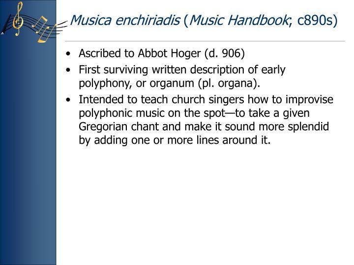 Musica enchiriadis music handbook c890s
