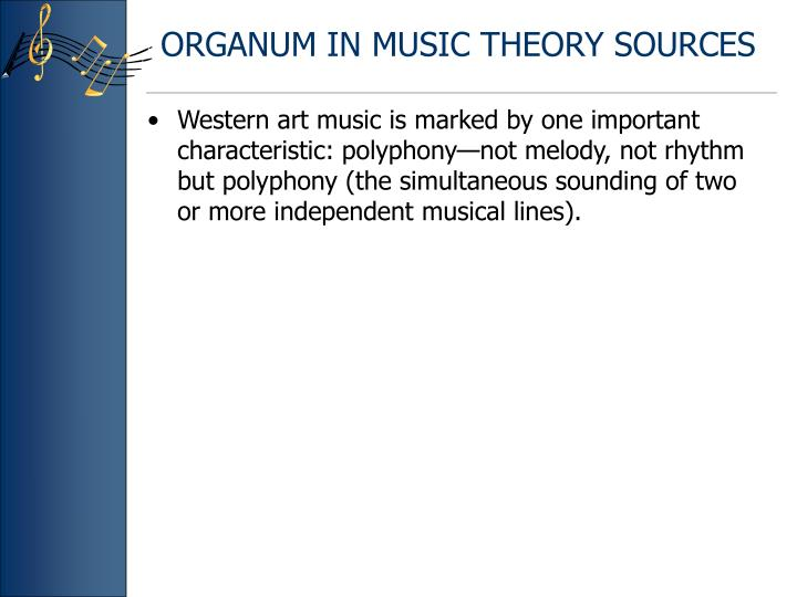 Organum in music theory sources
