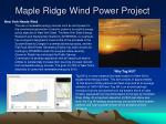 maple ridge wind power project