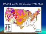 wind power resource potential