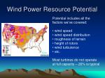 wind power resource potential36