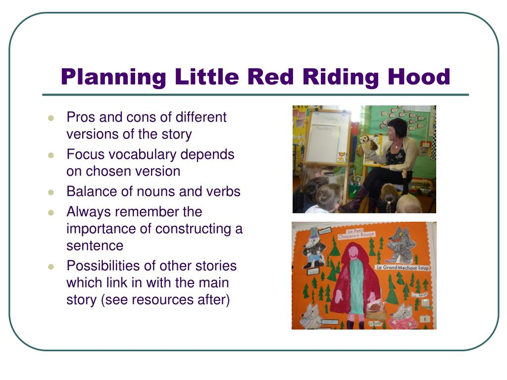 Planning Little Red Riding Hood