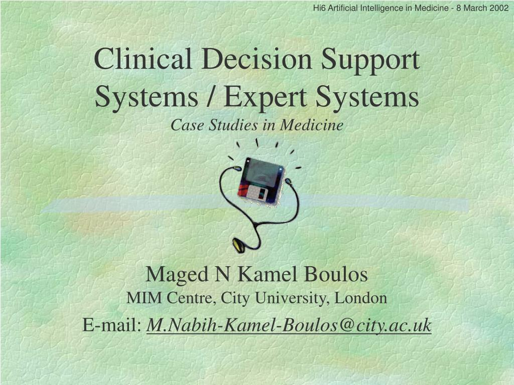 clinical decision support system case study