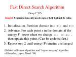 fast direct search algorithm