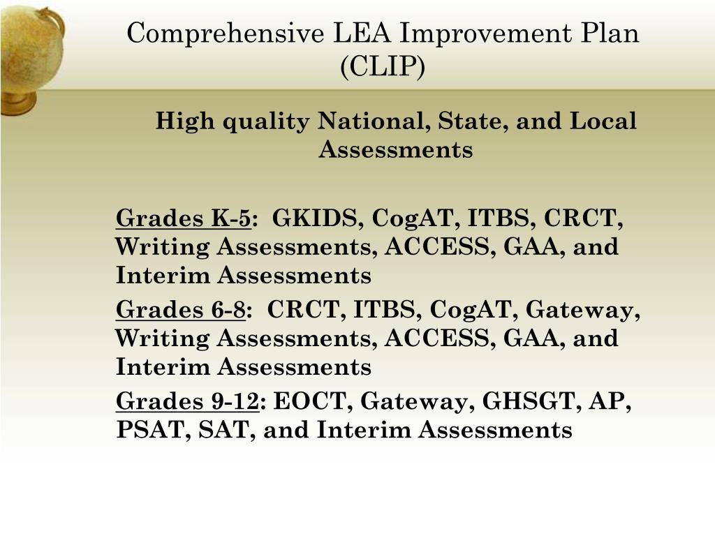 Comprehensive LEA Improvement Plan (CLIP)