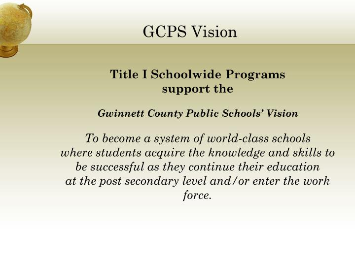 Gcps vision
