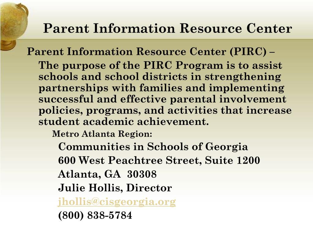 Parent Information Resource Center