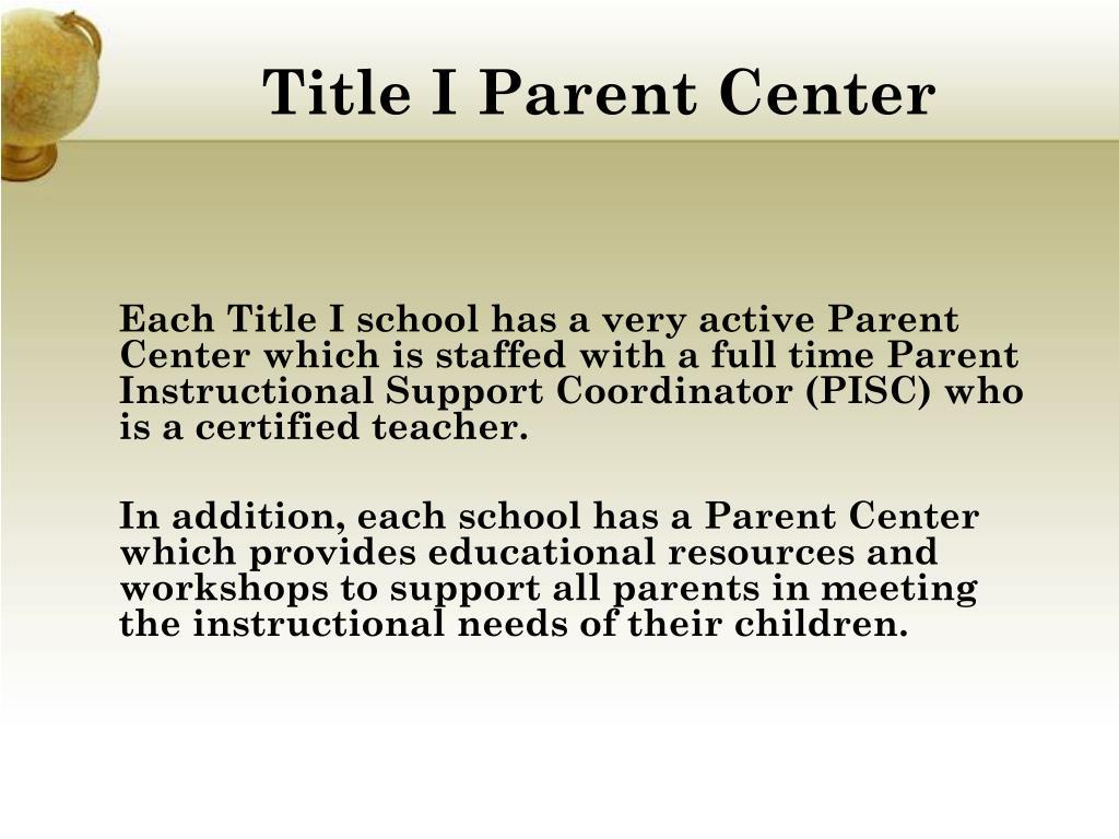 Title I Parent Center