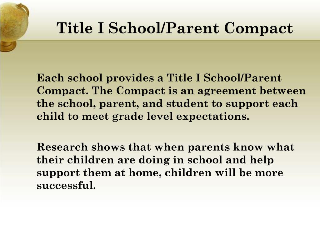 Title I School/Parent Compact