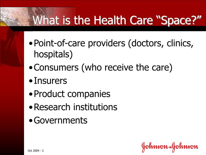 What is the health care space