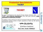 prestazioni specialistiche ticket