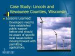 case study lincoln and kewaunee counties wisconsin44