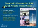 community commercial scale wind projects public utilities