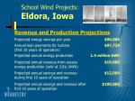 school wind projects eldora iowa