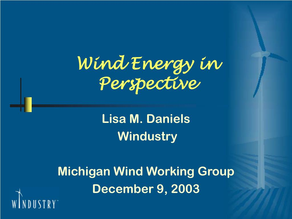 wind energy in perspective l.