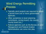 wind energy permitting process