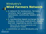 windustry s wind farmers network