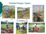 treadle pumps types