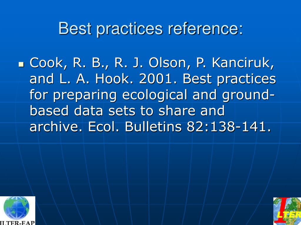 Best practices reference: