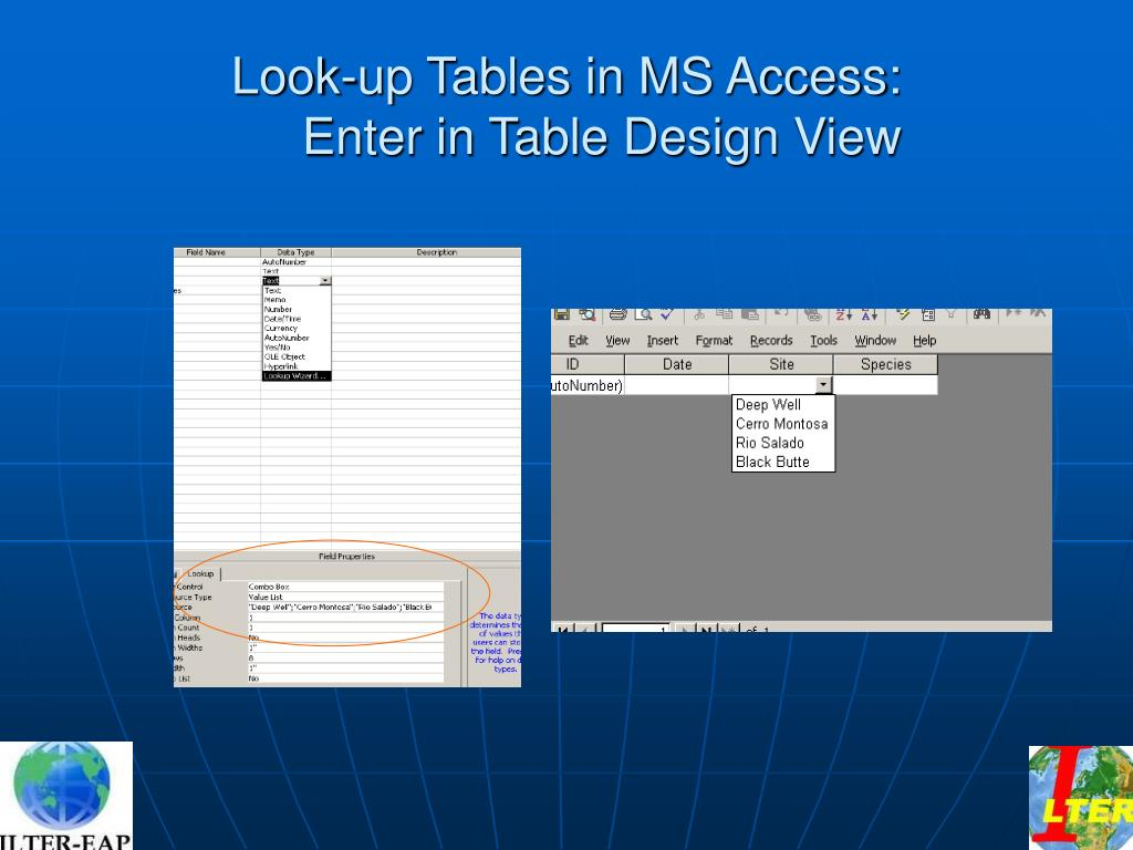 Look-up Tables in MS Access:
