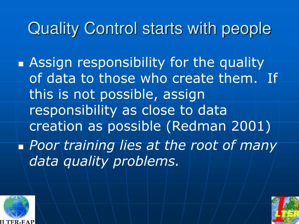 Quality Control starts with people