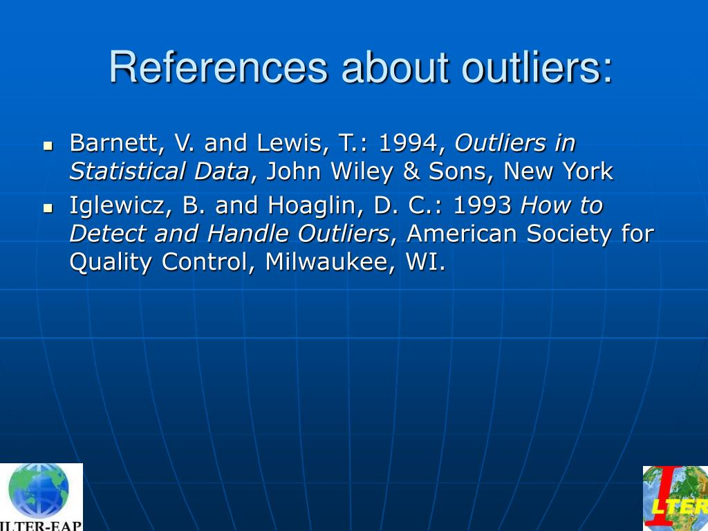 References about outliers: