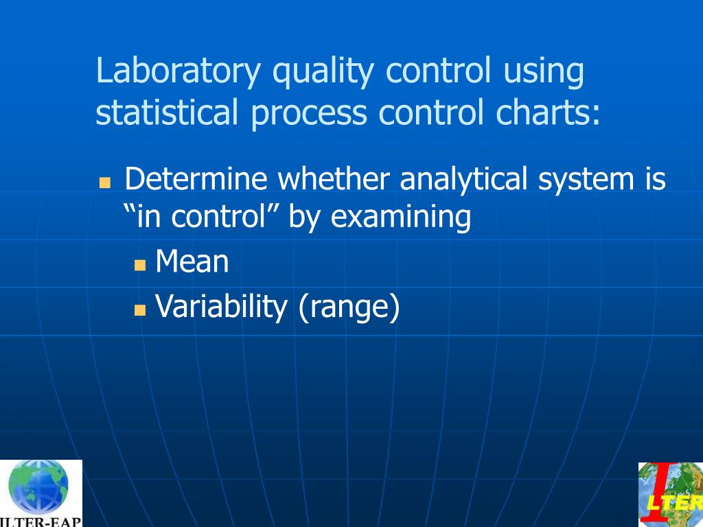 Laboratory quality control using statistical process control charts: