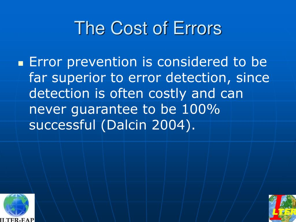 The Cost of Errors