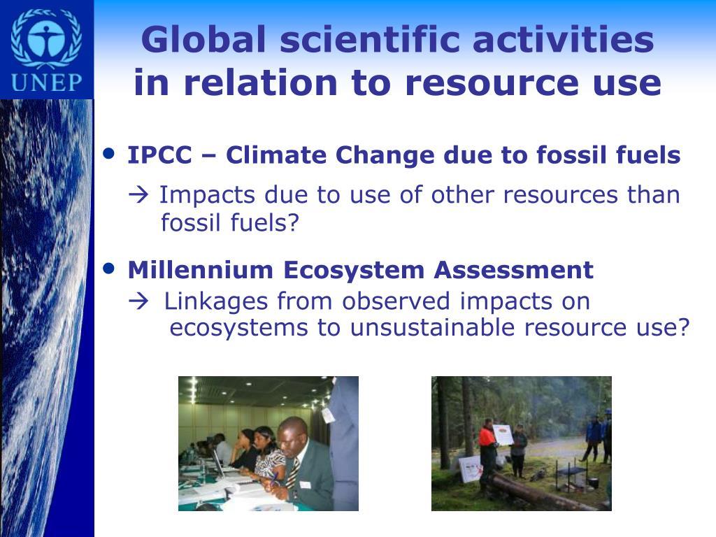 Global scientific activities