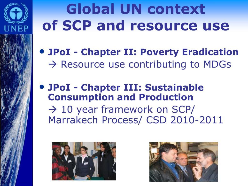 Global UN context