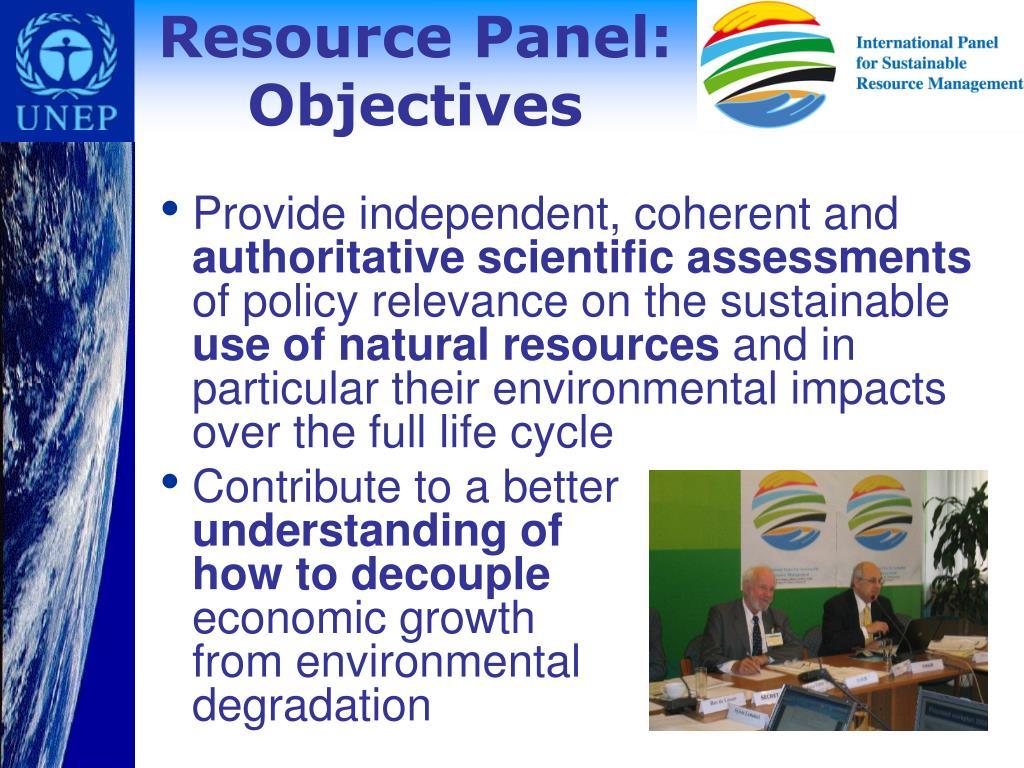 Resource Panel: