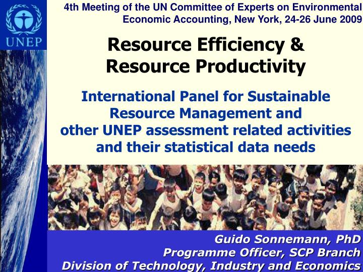 4th Meeting of the UN Committee of Experts on Environmental Economic Accounting, New York, 24-26 Jun...