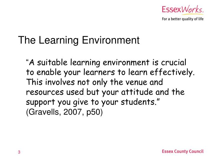 The learning environment3