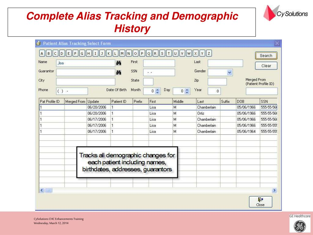 Complete Alias Tracking and Demographic History