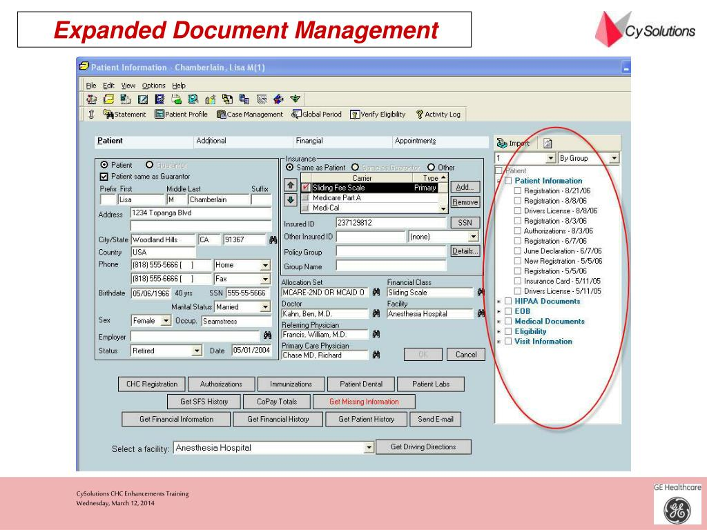 Expanded Document Management