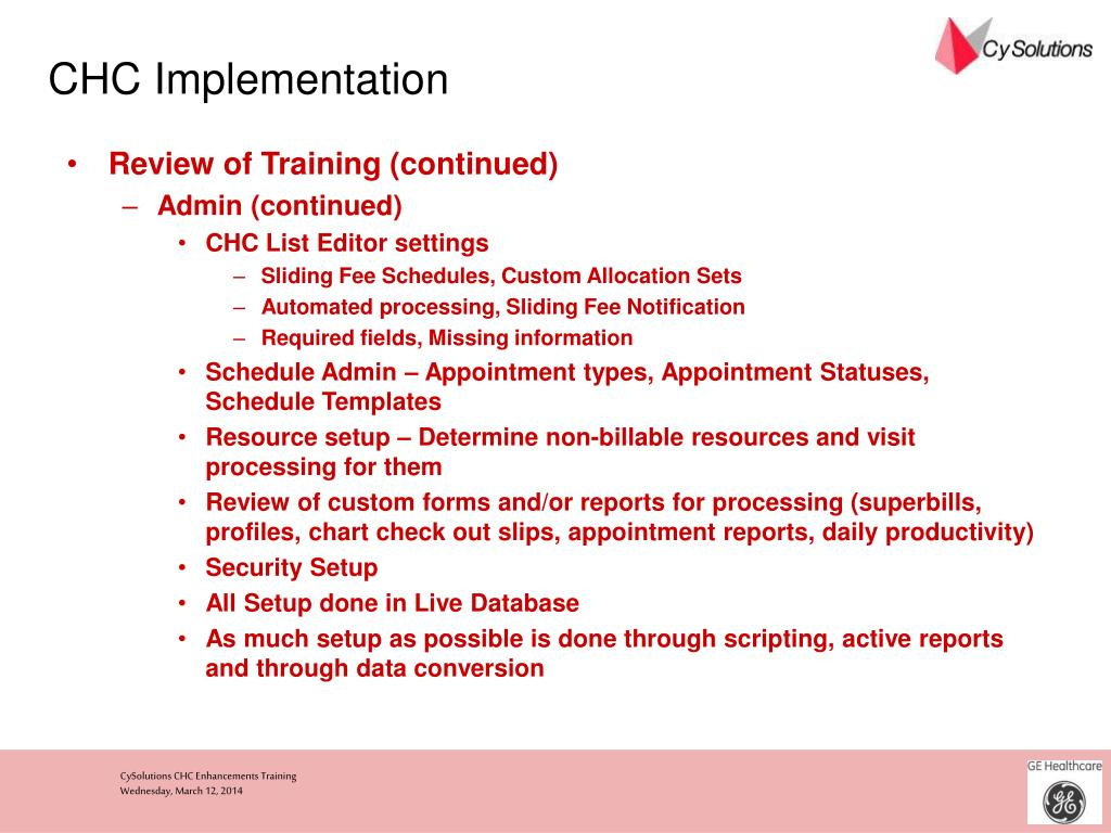 CHC Implementation