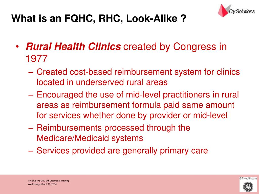What is an FQHC, RHC, Look-Alike ?