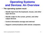 operating systems and devices an overview