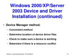 windows 2000 xp server 2003 device and driver installation continued14