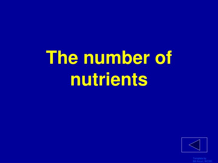 The number of nutrients