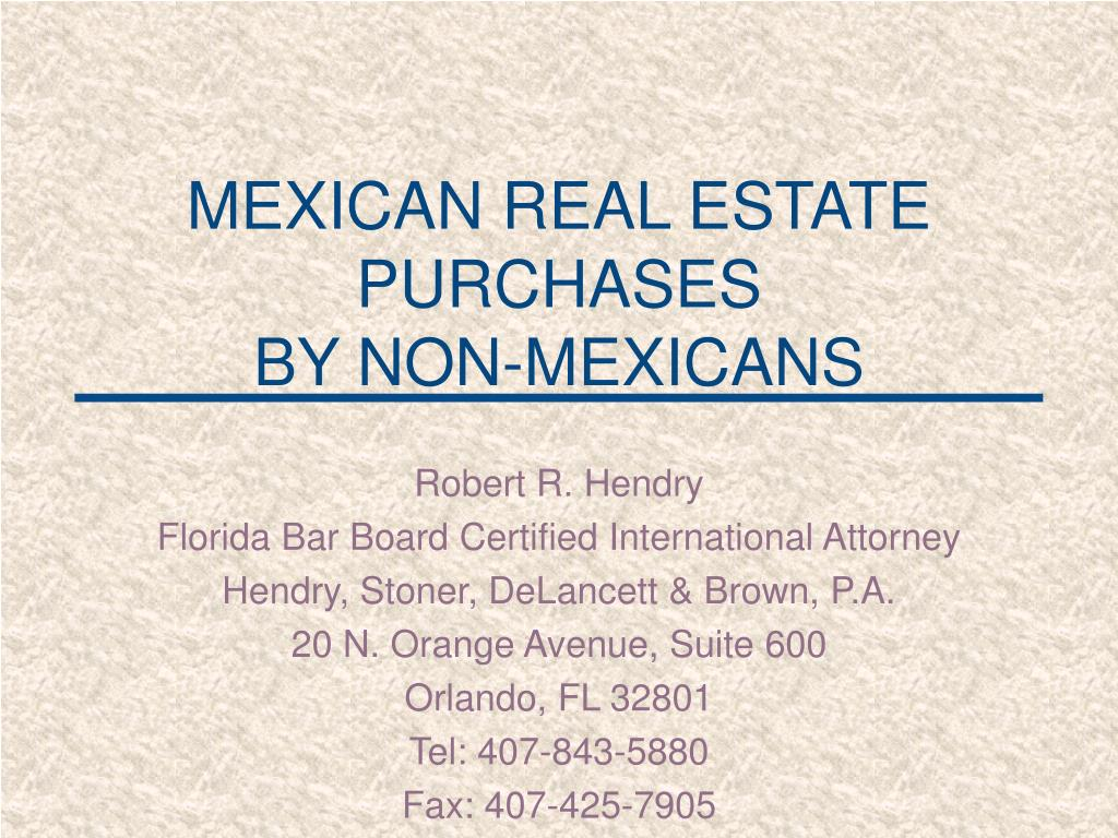 mexican real estate purchases by non mexicans
