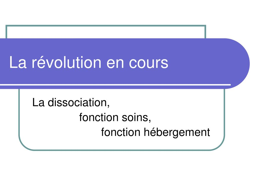La révolution en cours