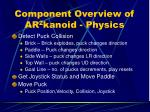 component overview of ar 2 kanoid physics