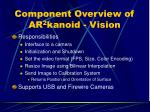component overview of ar 2 kanoid vision